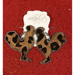 Leopard Print Rooster Earring -- Choice of Color