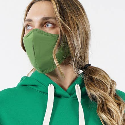 Green Face Mask - Adult