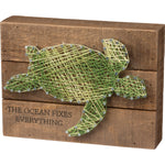 """The Ocean Fixes Everything"" -- String Art by PBK"