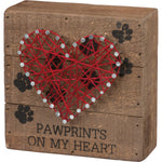 """Pawprints On My Heart""  -- String Art by PBK"