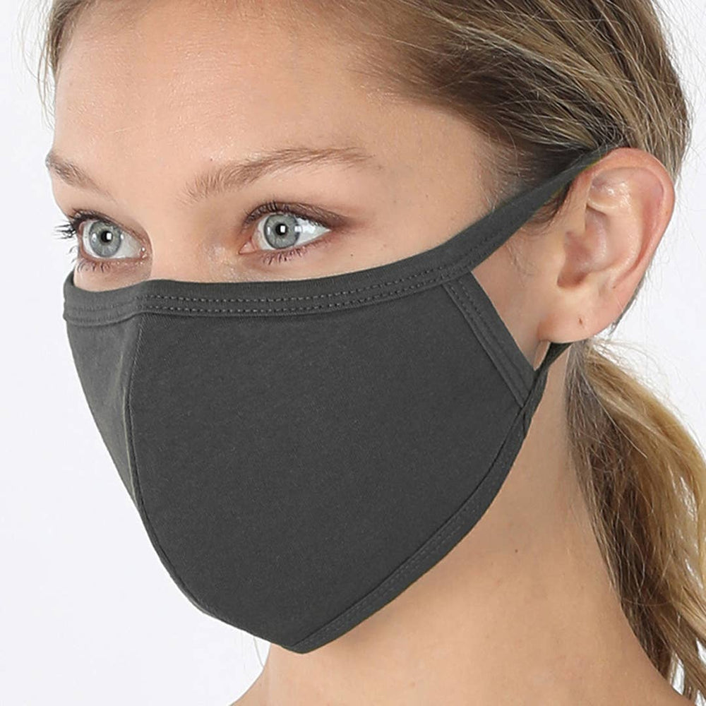 Ash Gray Face Mask - Adult
