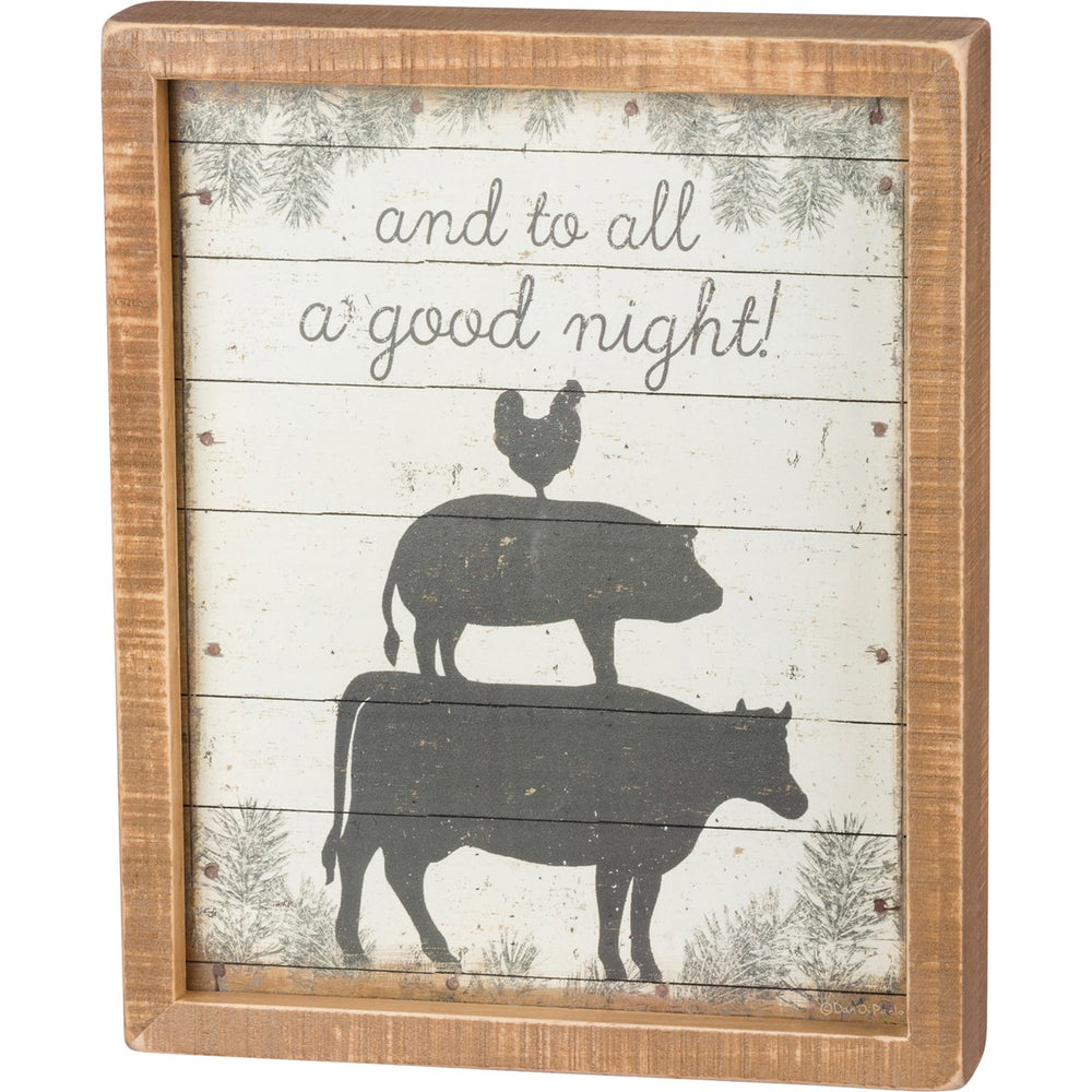 And To All A Good Night - Inset Box Sign