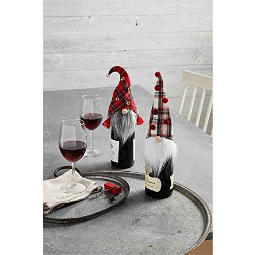 Gnome Wine Bottle Cover -- Choice of color