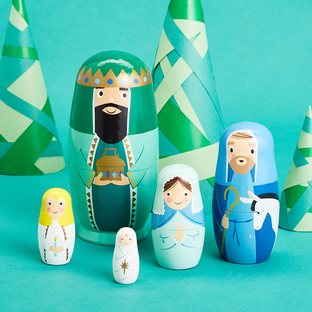 Nativity -- Set of 5 Nesting Dolls