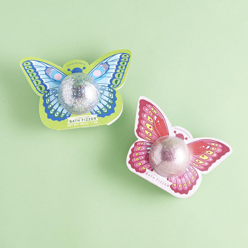 Glitter Butterfly Bath Fizzer -- Choice of Color