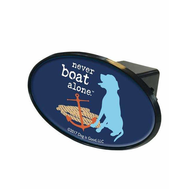 Trailer Hitch Cover: Never Boat Alone