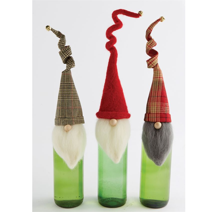 Gnome Wine Toppers by Mud Pie -- Choice of Style