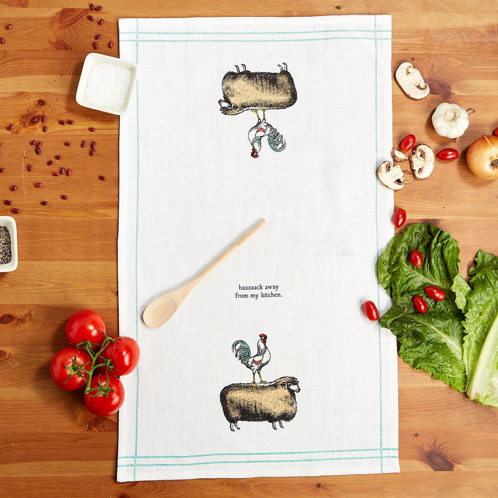Homestead Dish Towel with Wooden Spoon -- Choice of Design