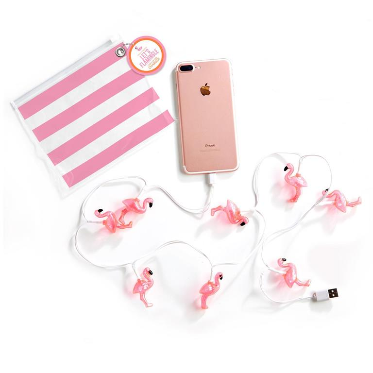 Flamingo Light Up USB Charger Cable