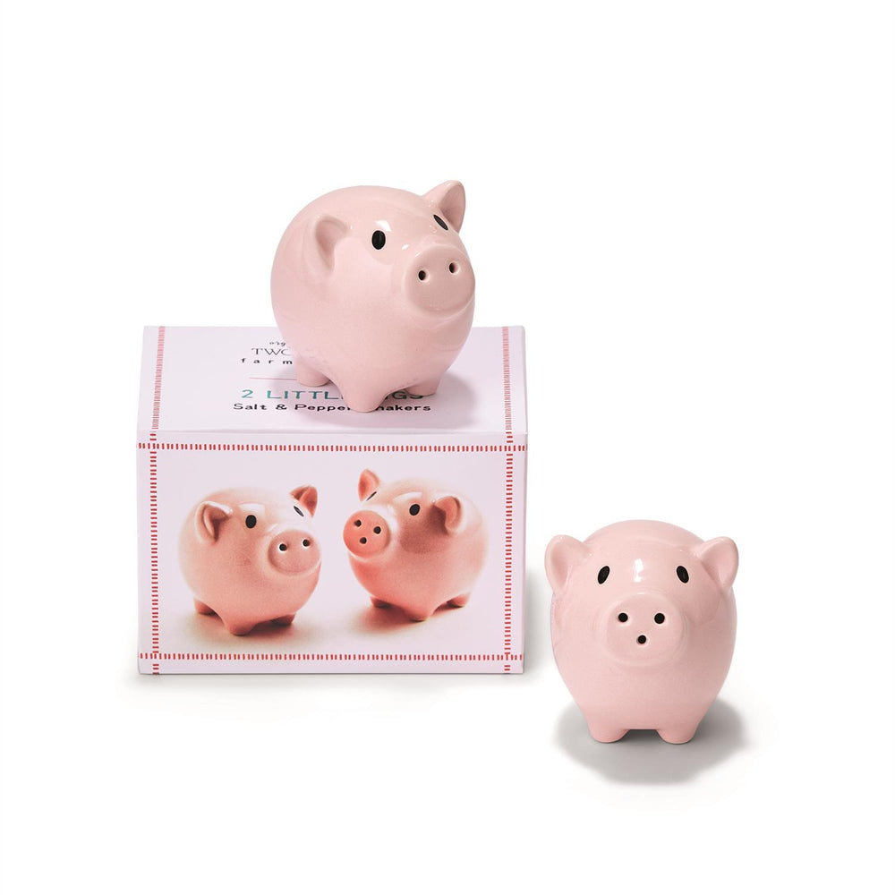 Two Little Pigs Salt and Pepper Shaker Set