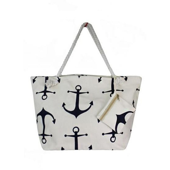 Beach Vibe Large Anchor Tote