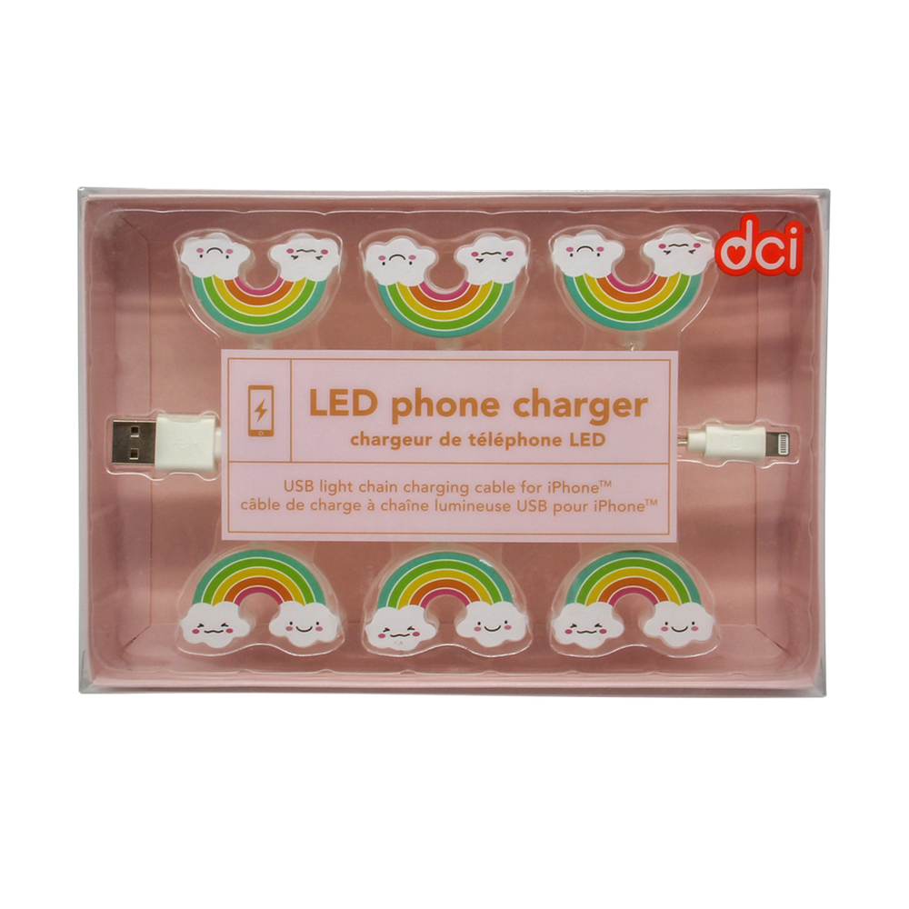 Rainbows LED iPhone Charger
