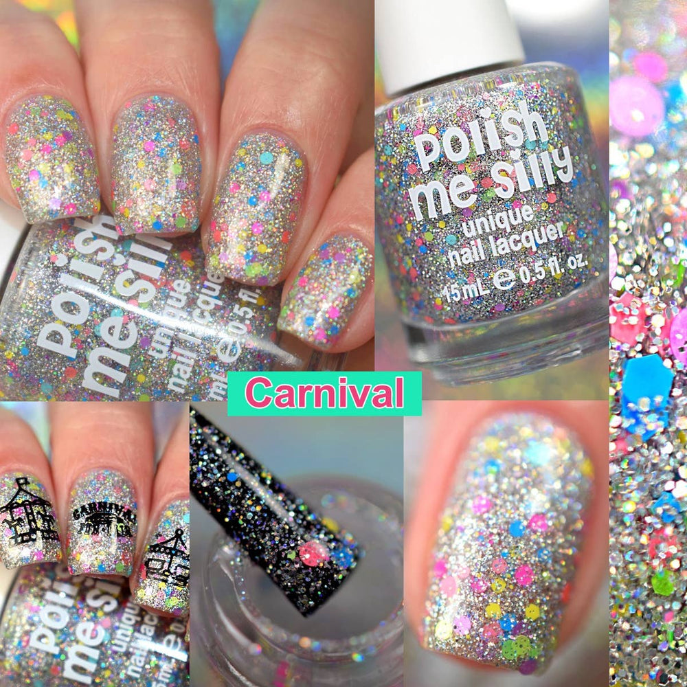 Carnival- Bright Lights Holographic Glitter Nail Polish