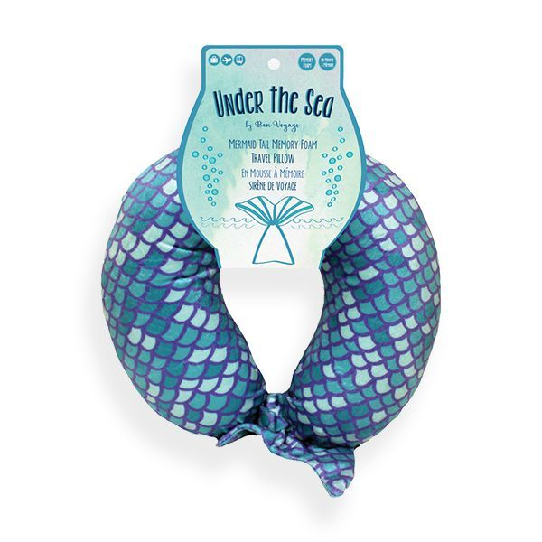 Mermaid Tail Memory Foam Neck Pillow -- Choice of Color