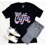 YAY Coffee V-Neck Tee