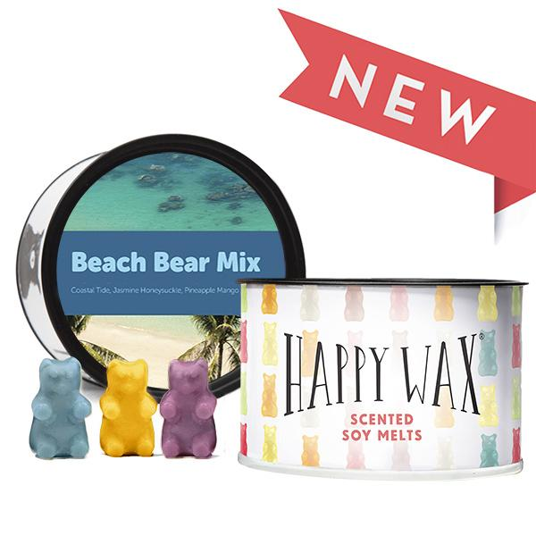 Happy Wax Soy Melts -- Beach Bear Mix