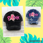 Embroidered 'Pink' Ribbon Cap