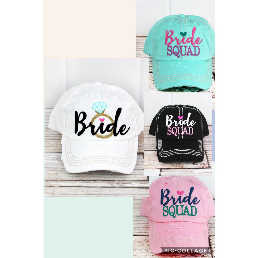 Bridal Party Squad Hats