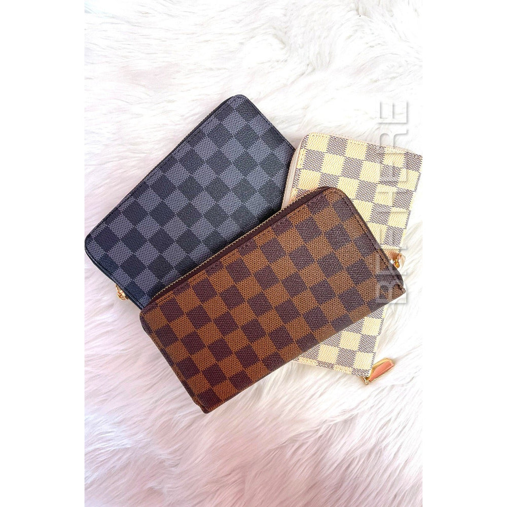 Jimmy Checkered Zippy Wallet -- Choice of Color