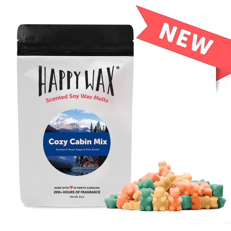 Happy Wax Soy Melts --  Cozy Cabin Mix