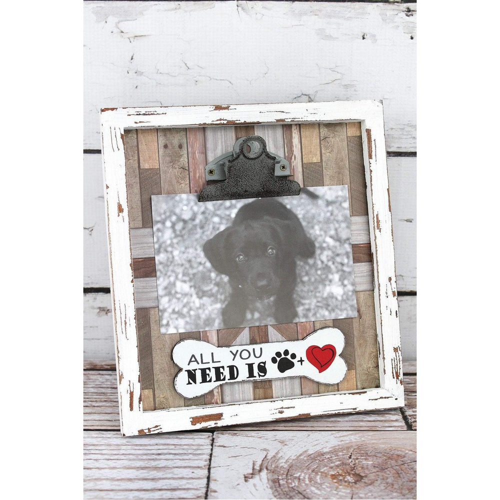 All You Need Is Dog-- Wood 4x6 Photo Frame