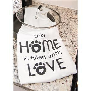 This Home is Filled with Love -- Kitchen Towel