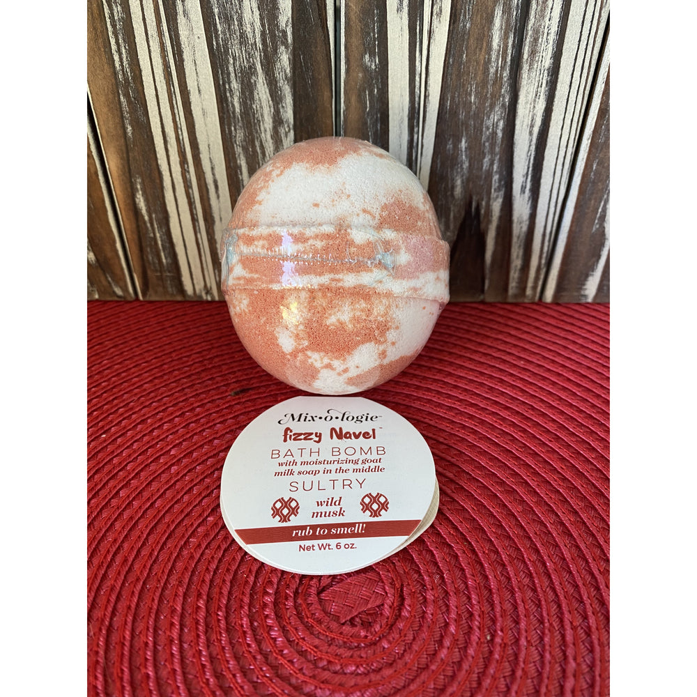 Mixologie's Sultry (Wild Musk) Fuzzy Navel Bath Bomb