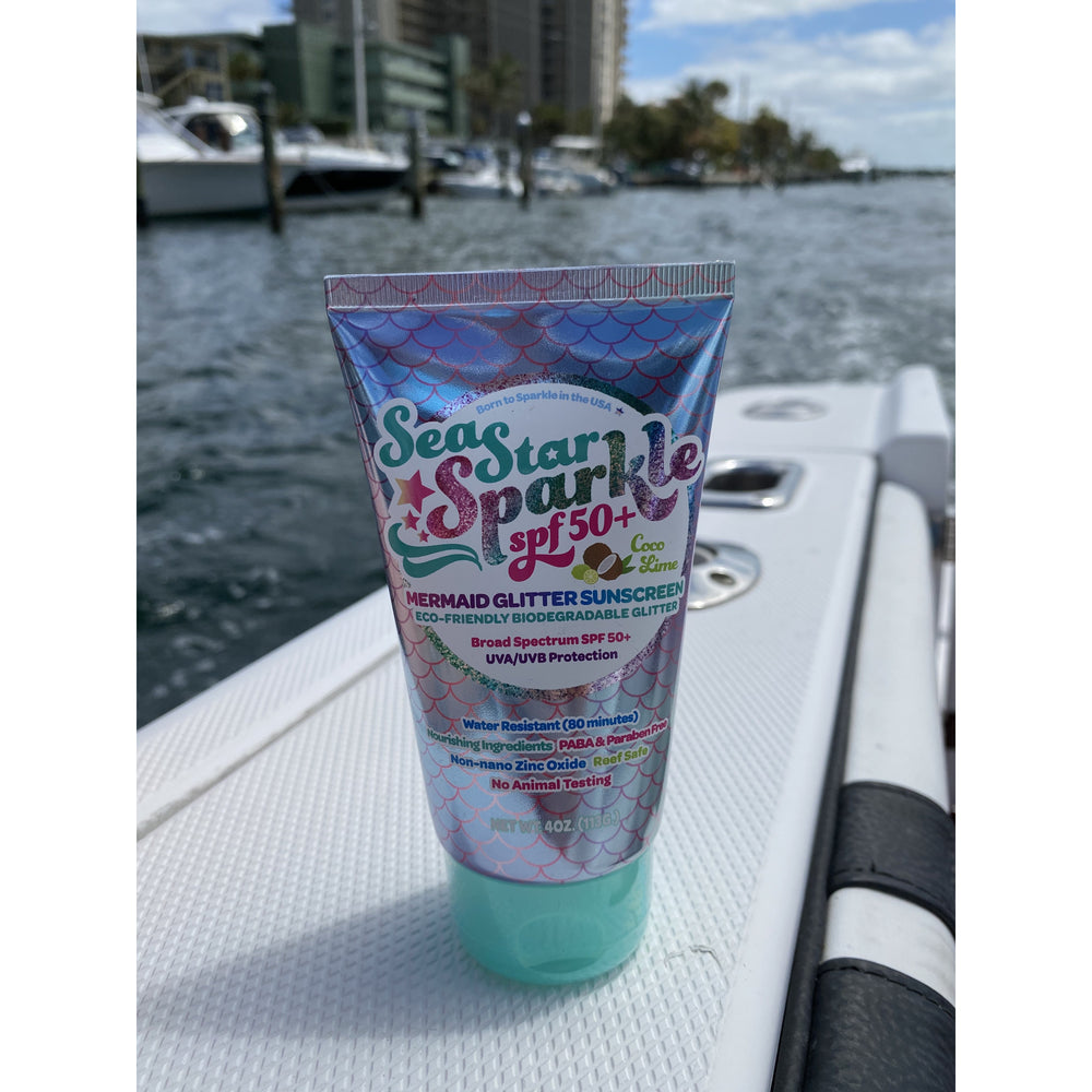 Sea Star Sparkle Mermaid Coco Lime SPF 50+ Glitter Sunsreen
