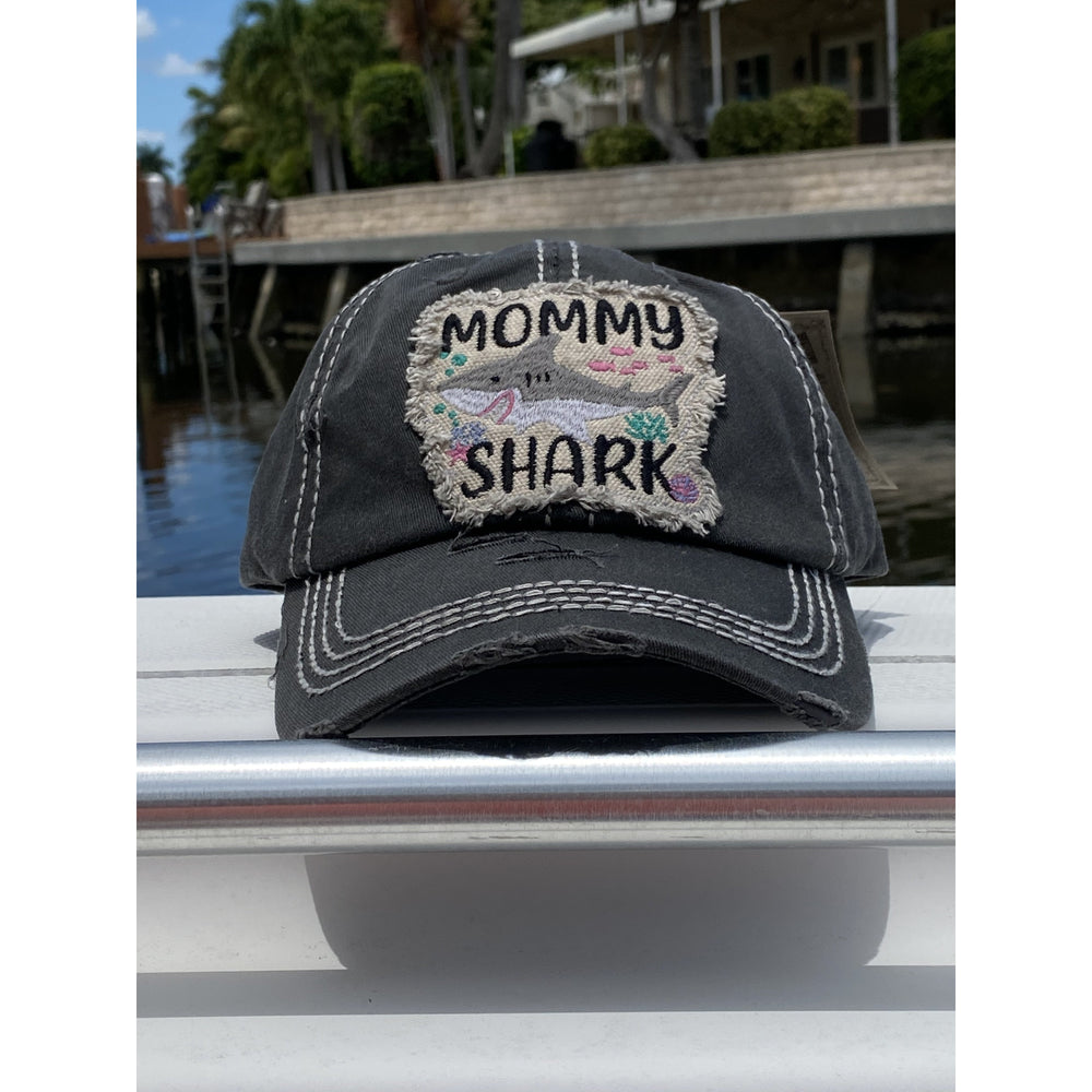 Mommy Shark Vintage Hat -- Choice of Color
