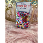 Stick To It Multi Confetti Phone Card Holder by Packed Party