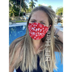 Merry Christmas Adjustable Face Mask - Adult