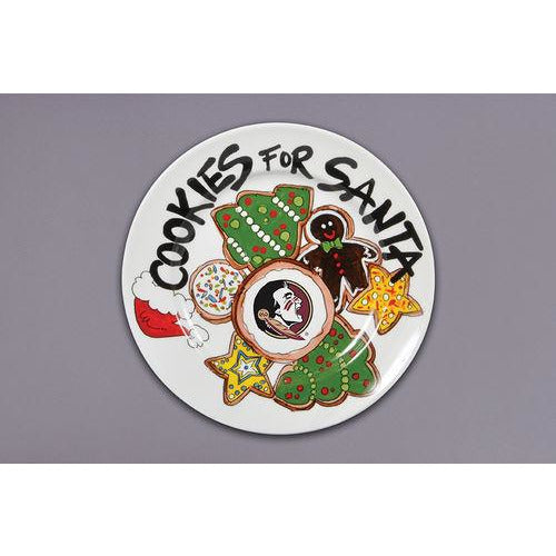 Cookies For Santa Plate -- Choice of Team
