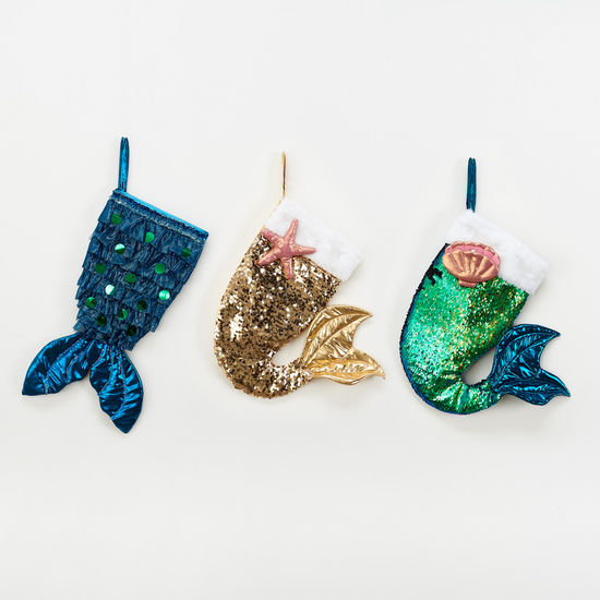 Mermaid Christmas Stocking -- Choice of Color