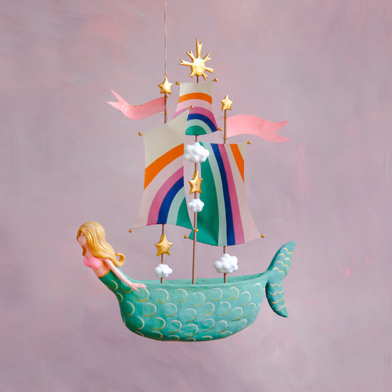 Mermaid Ship Ornament