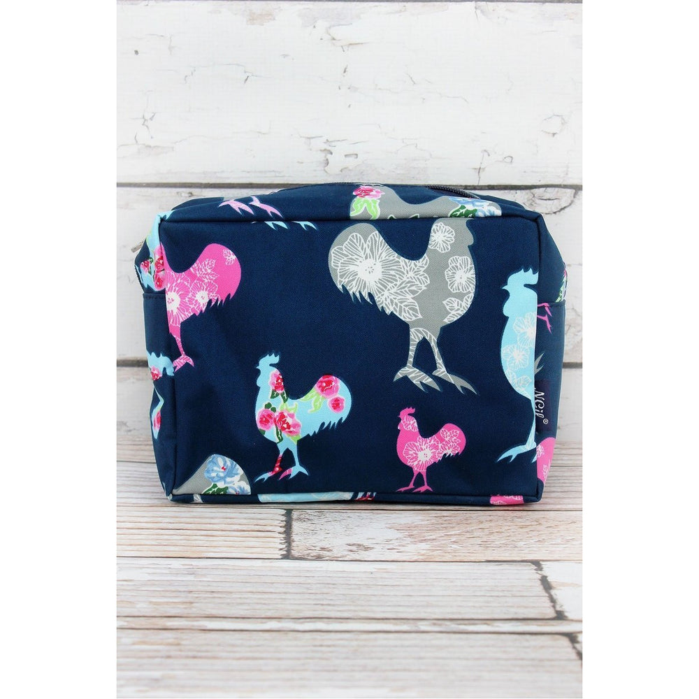Rosy Roosters Cosmetic Case