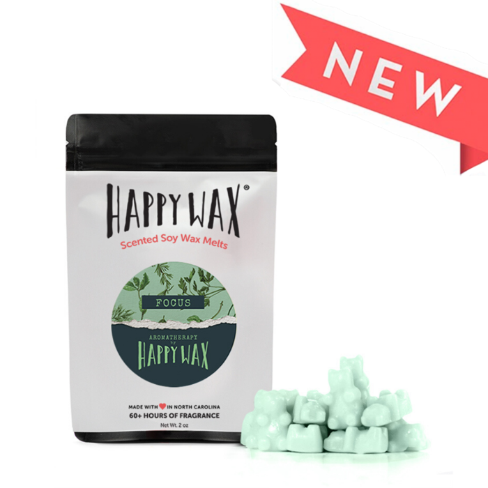 "Happy Wax Soy Melts --  Aromatherapy ""Focus"""