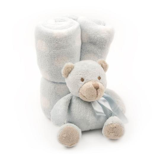 Blue Bear Plush Blanket