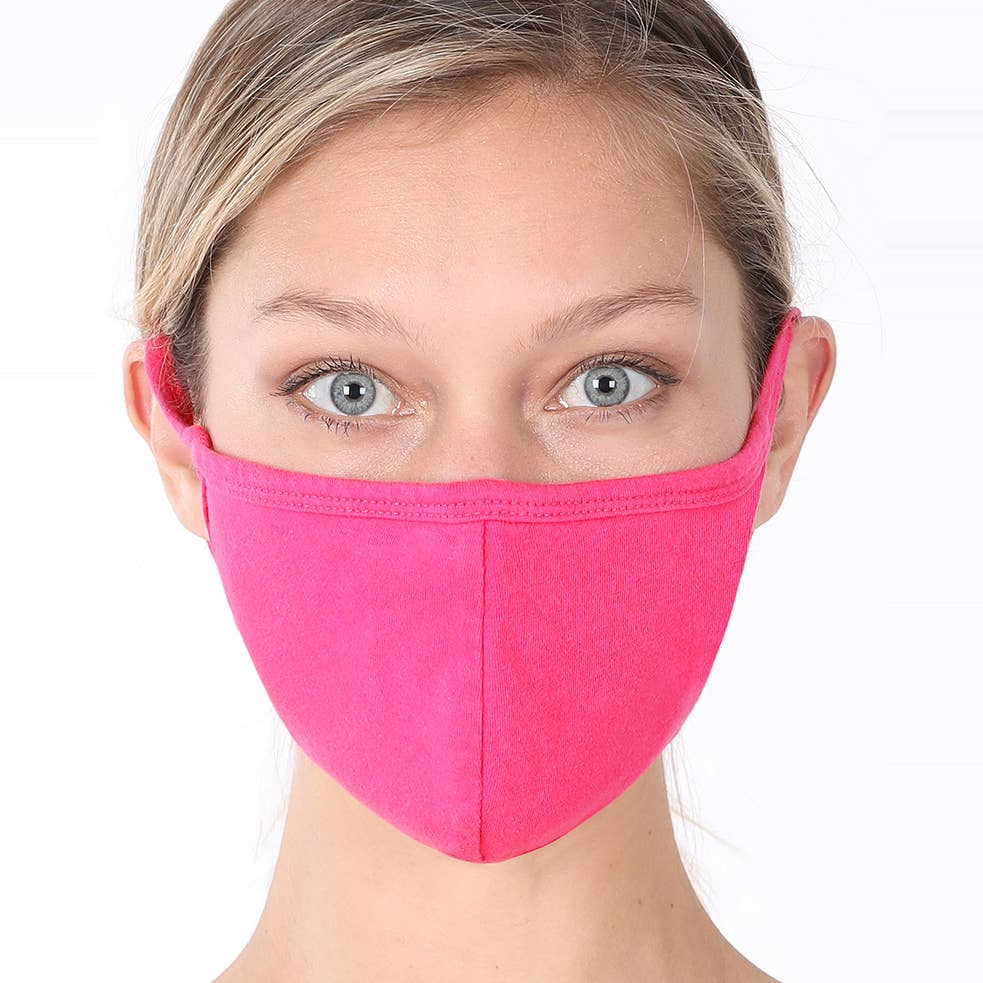 Hot Pink Face Mask - Adult