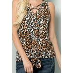 Leopard Criss-Cross Top