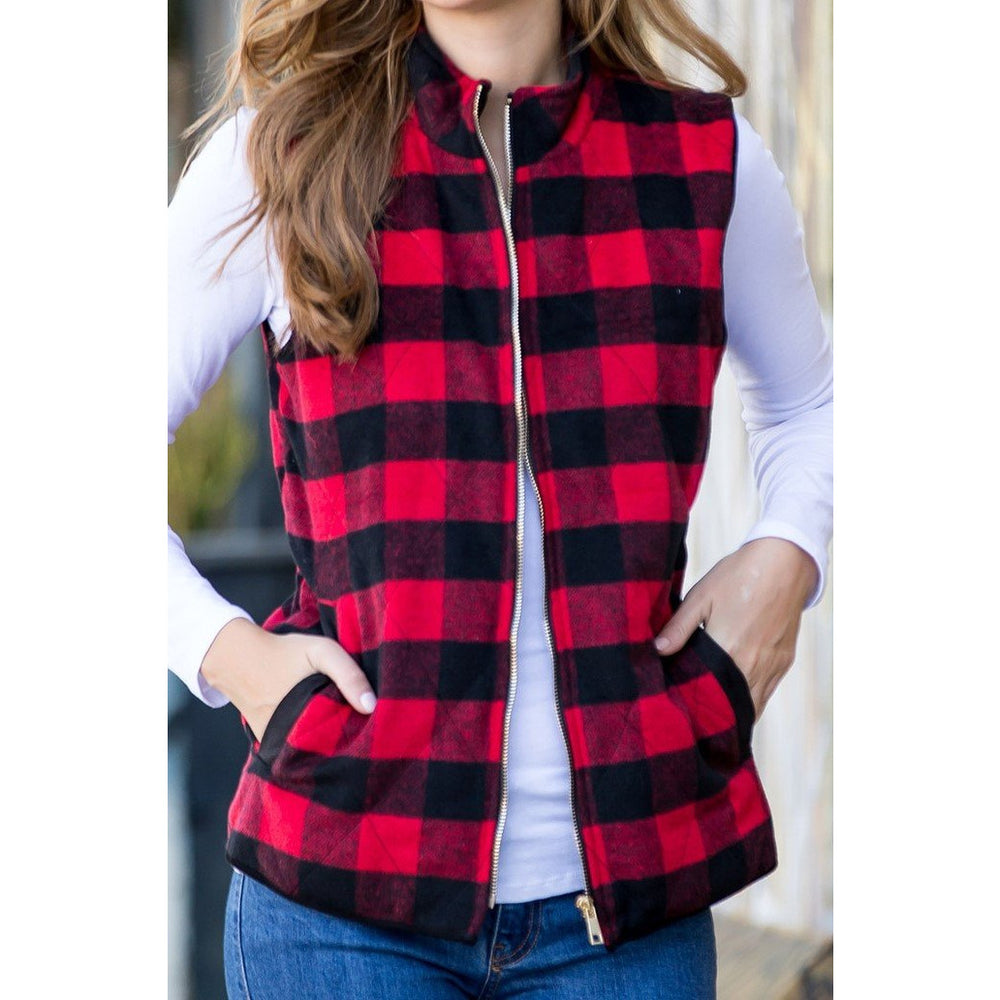 Quilted Vest Zipper Front