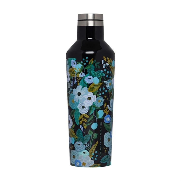 16oz Canteen By Corkcicle -- Rifle Paper Garden Party Blue
