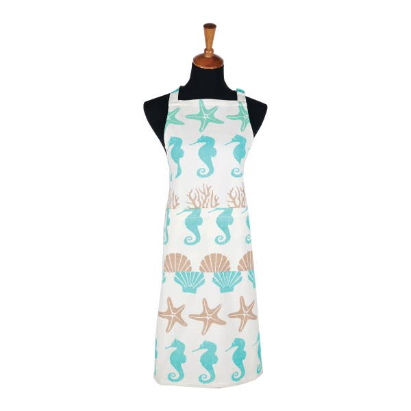 By the Sea Printed Cotton Apron