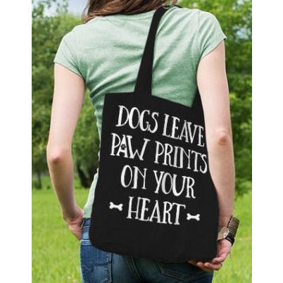 Dogs Leave Paw Prints On Your Heart Tote