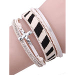 Cross Layered Bracelet -- Choice of Color
