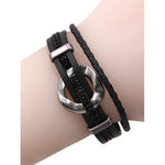 Irene Layered Bracelet -- Black