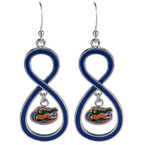 University of Florida Infinity Hoop Earrings