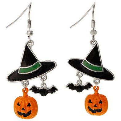 Witch Hat Halloween Earrings