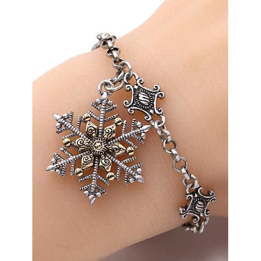 Tailored Snowflake Charm Bracelet