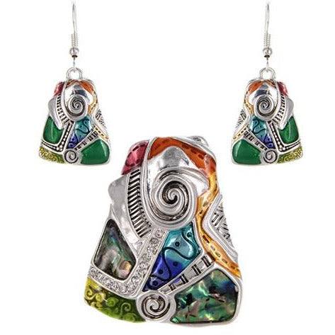 Artistic Design Necklace and Earring Set