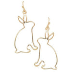 Easter Bunny Cutout Earrings -- Choice of Style